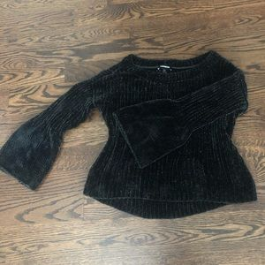 Express chenille bell sleeve sweater.